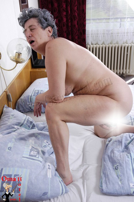 Granny plays with cock